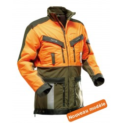 Veste de traque Strech Air orange/kaki