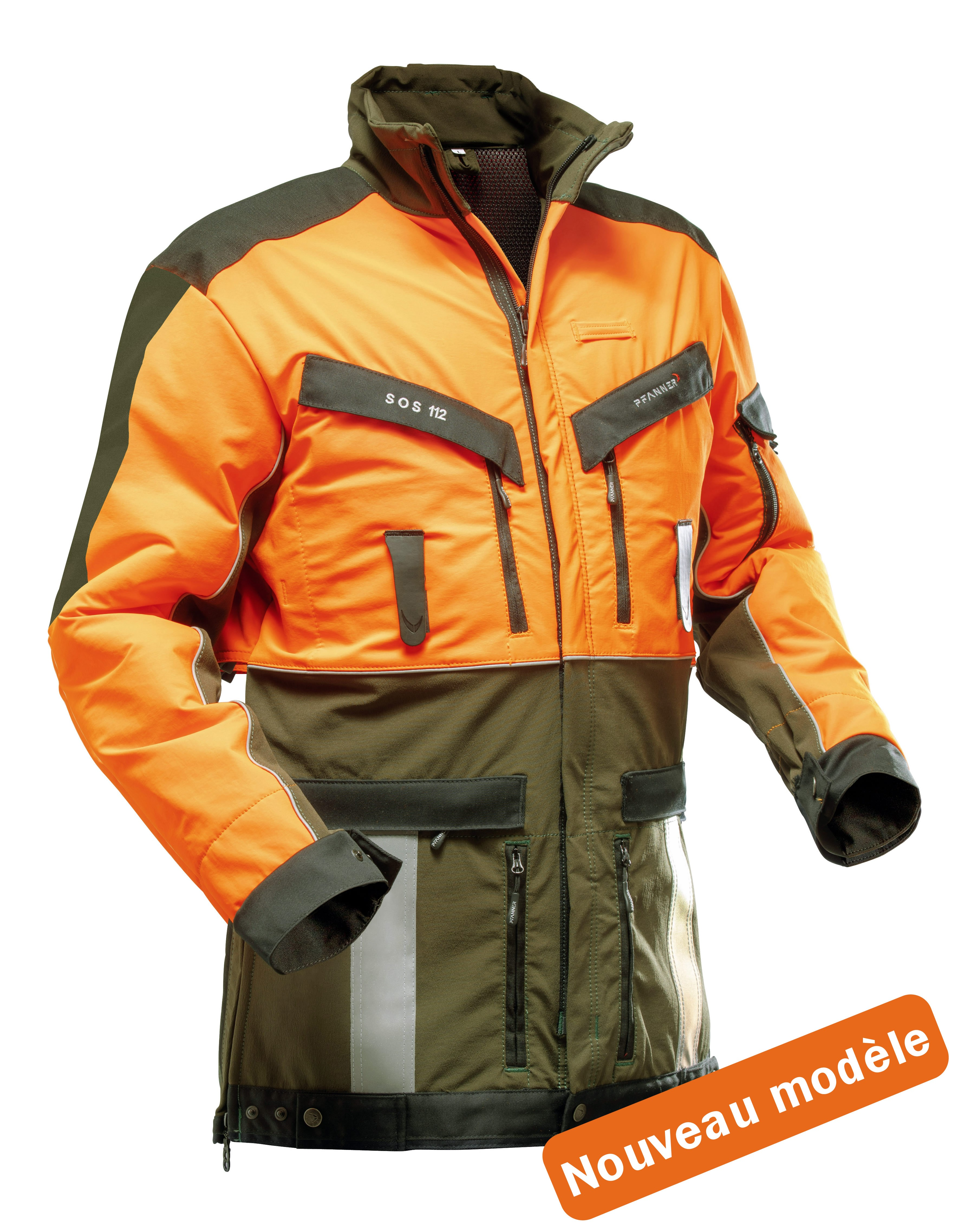 Veste de traque PFANNER Strech Air orange/kaki